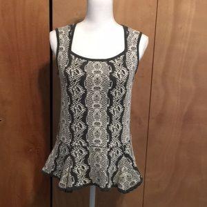 Cabi Peplum Shell Sweater Style #887